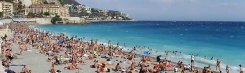 Busy Beach in Summer